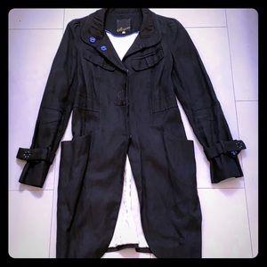 McGinn - Black Linen Coat